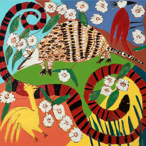 """Blessing of the Armadillo, 36"""" x 36"""""""