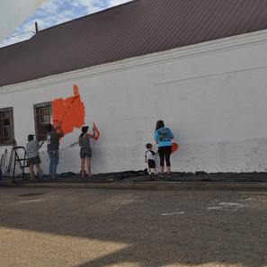 And it begins... Greensboro, AL mural