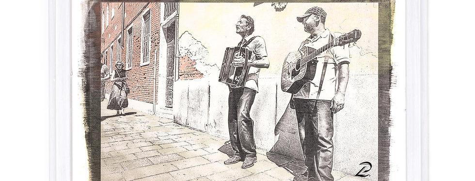 Titel: Musicista in strada, venezia
