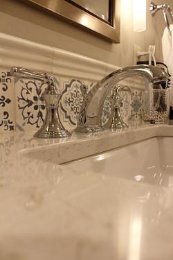 Handpainted tile detail