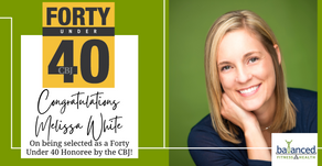 Congratulations, Melissa White, for Forty Under 40 Recognition!