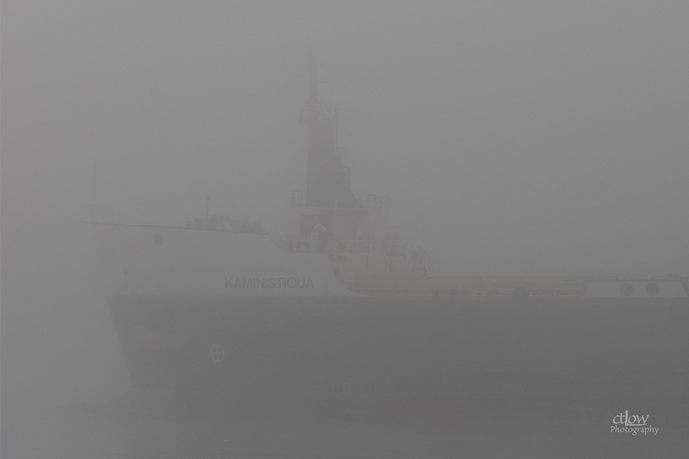 freighter ship Kaministiqua dense fog St. Lawrence River Great Lakes Seaway