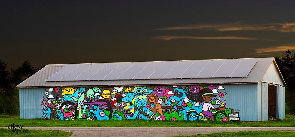 Gibbons Farm barn mural
