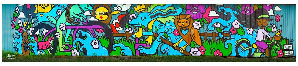 new Gibbons Farm barn-side mural