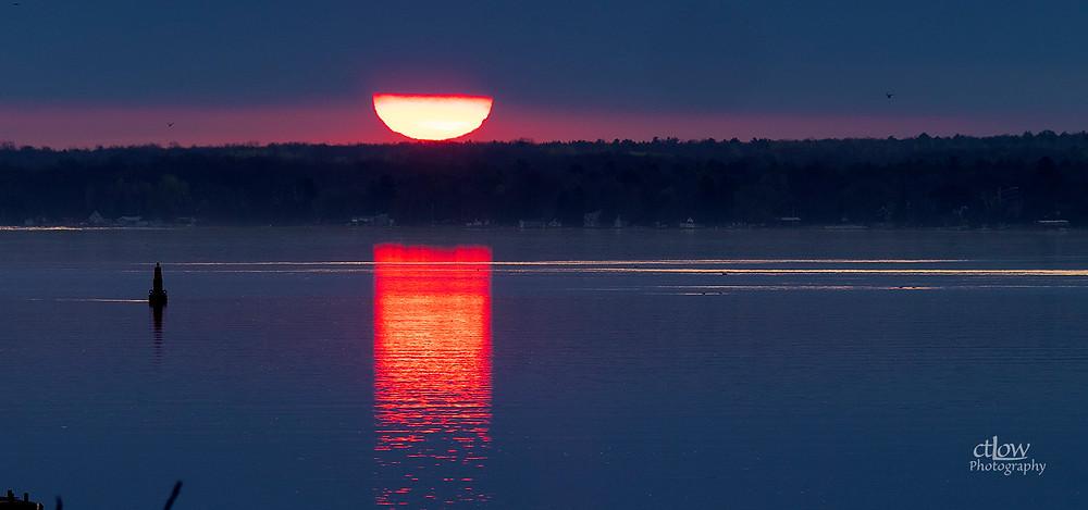 Sunrise St. Lawrence River Brockville Ontario upper New York State
