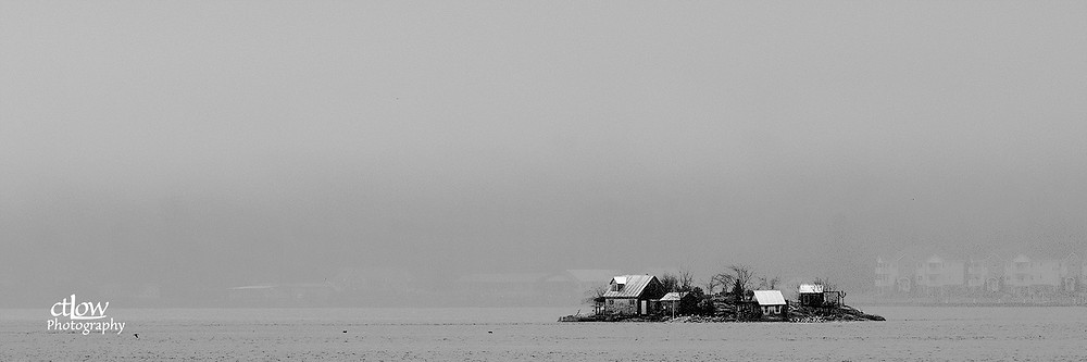 Bogardus Island, Three Sister Islands, Thousand Islands monochrome