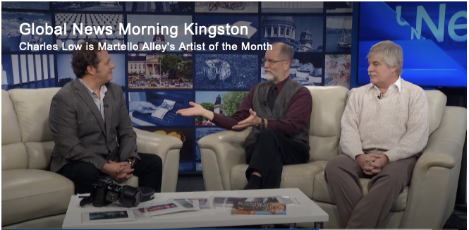 Charles Low and David Dossett with Bill Welychka on CKWS's morning show, Dec. 9, 2019. (Now I wish my fans would stop calling!)