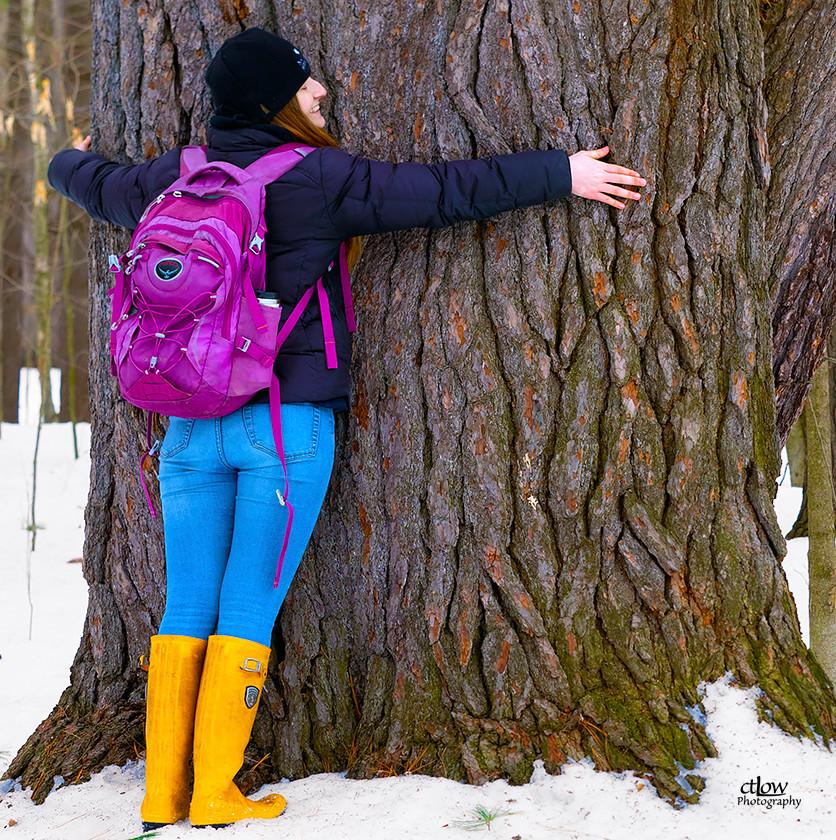 Megan, the self-described tree-hugger
