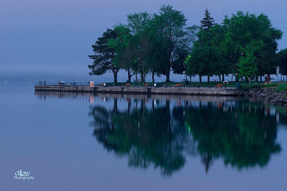 Blockhouse Island Brockville Ontario fog