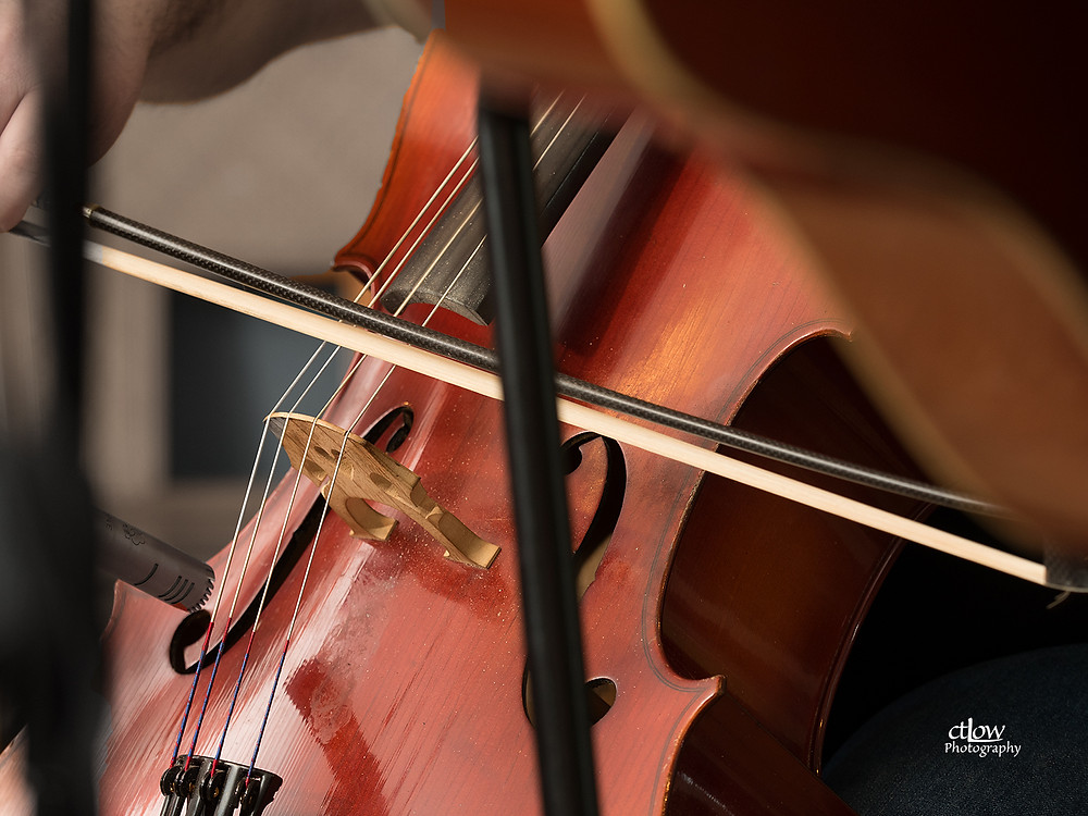 cello and bow detail