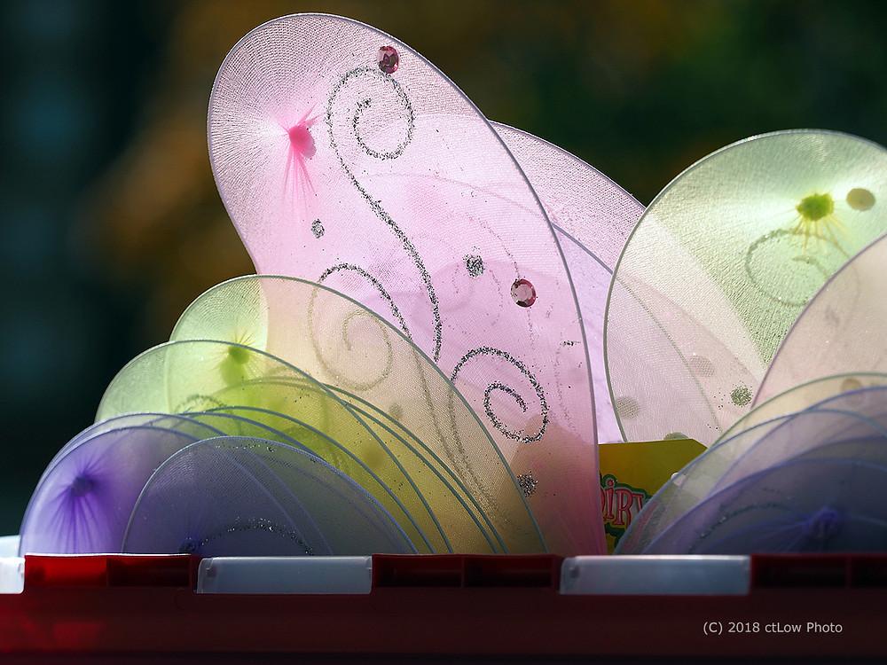 stylized butterfly wings