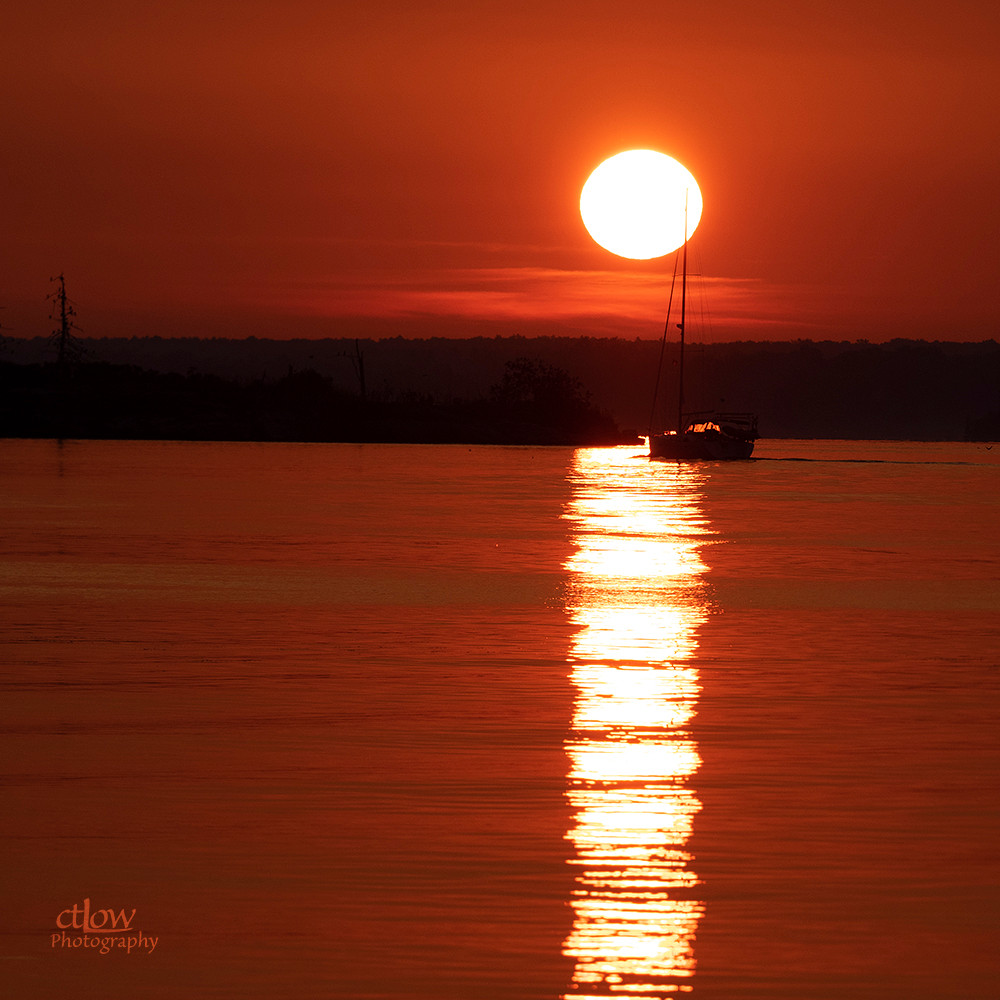 sunrise sailboat St. Lawrence River