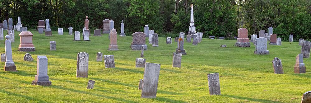 cemetery in Golden Hour light
