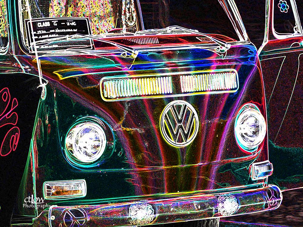 VW van glowing edges