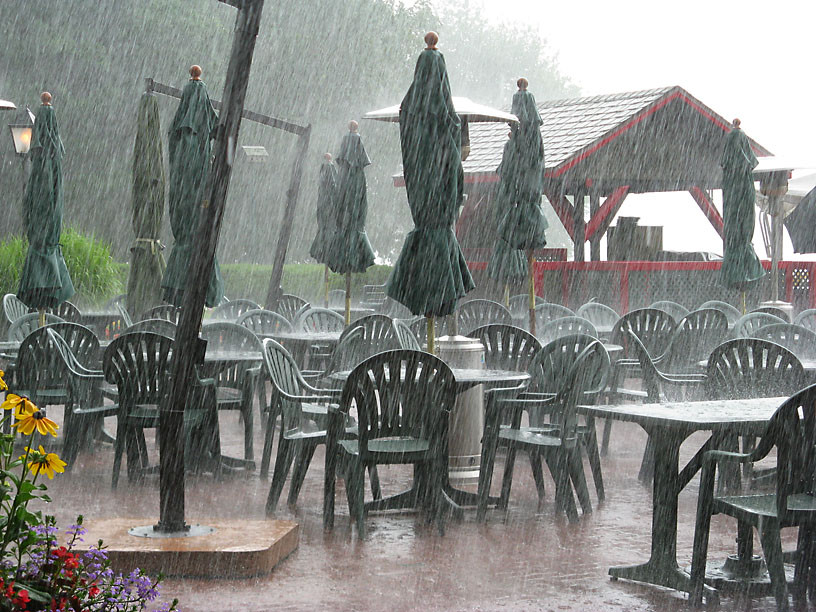 patio rain