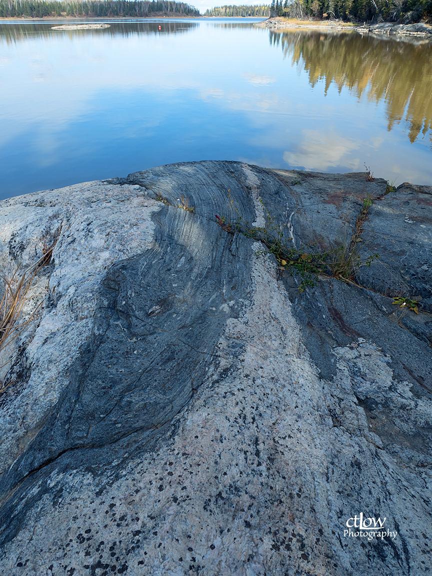 granite and river