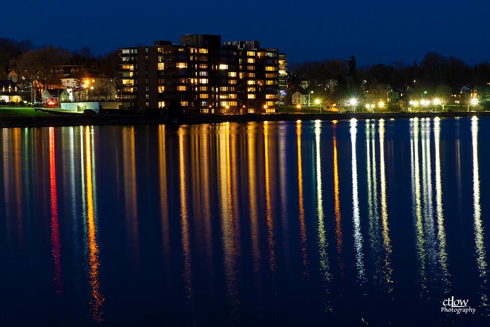 Water Street Brockville, dusk, The Executive