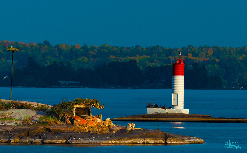 1000 islands st. lawrence river osprey aerie navigation beacon