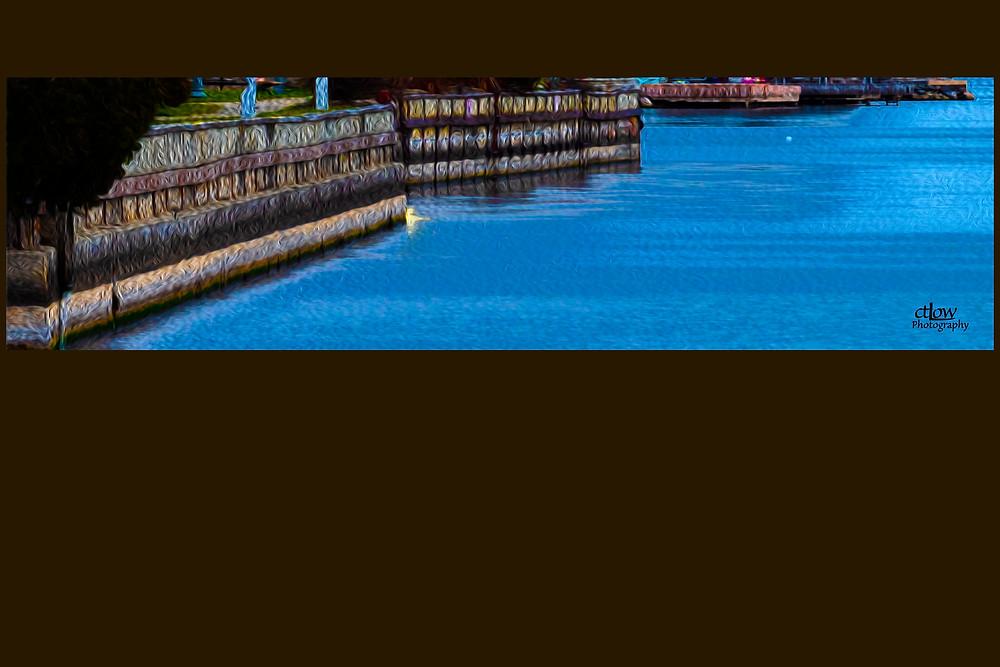Brockville waterfront east, ship wharfs