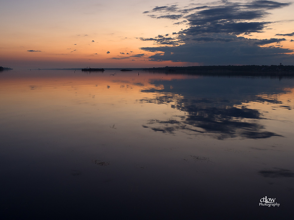 Dawn clouds over St. Lawrence River from Blockhouse Island