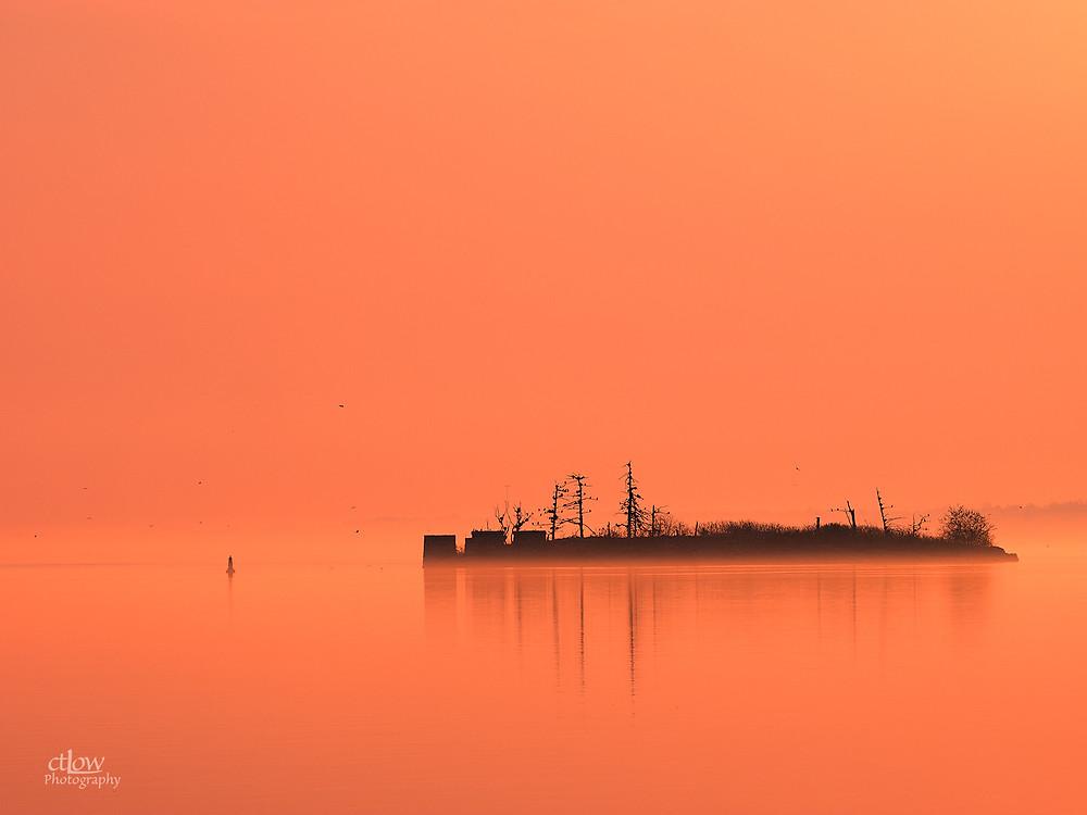 island, colour, golden hour