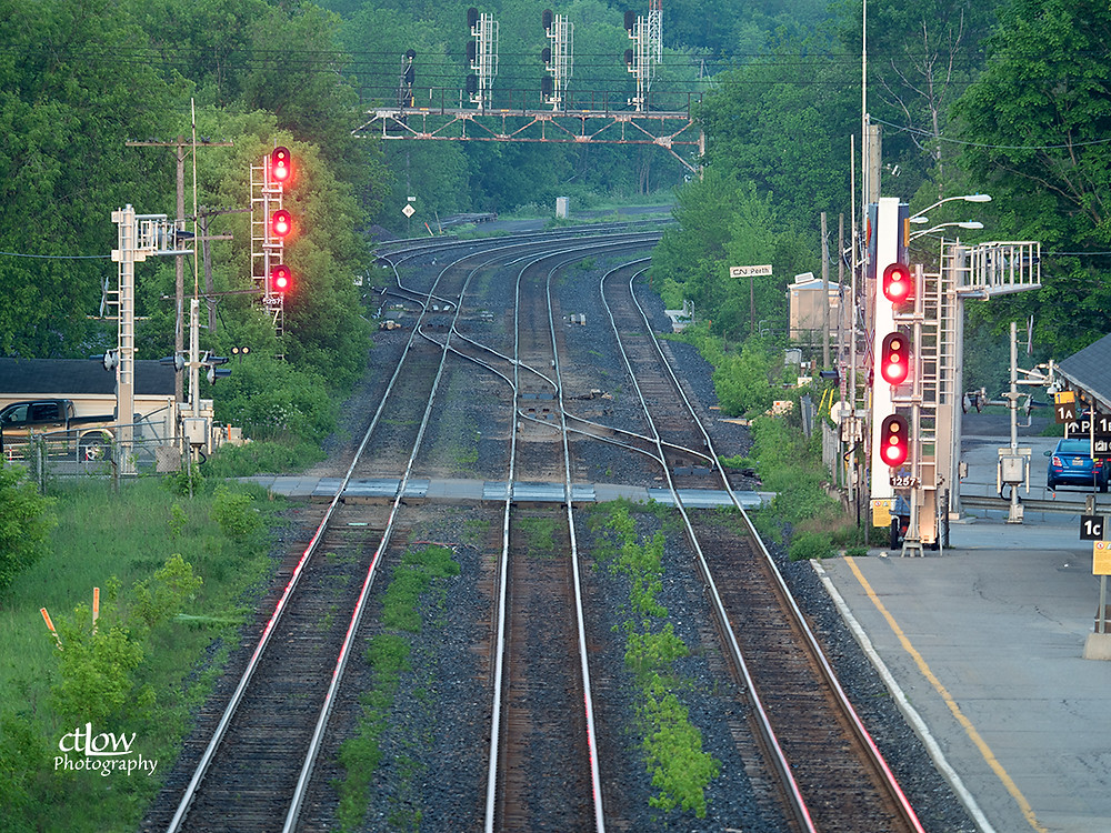 Train tracks perspective