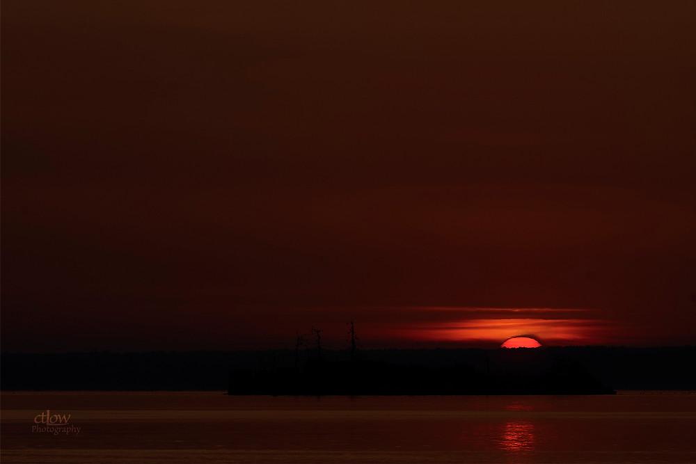 sunrise St. Lawrence River McNair Island