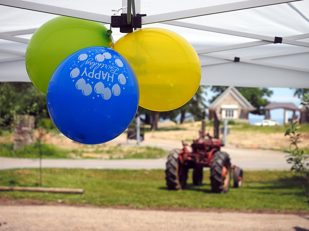 party balloons - & tractor