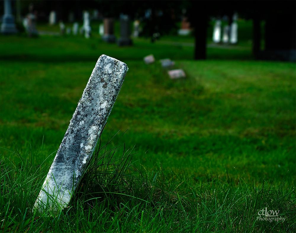 leaning headstone cemetery brockville ontario canada