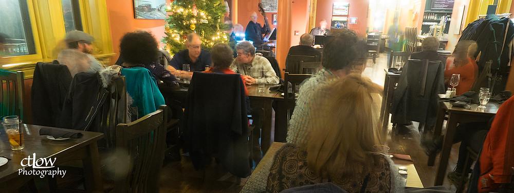 long, ambient-light exposure, inside the restaurant