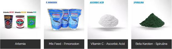 Produk Makanan Dan Vitamin Untuk Ikan dan Udang