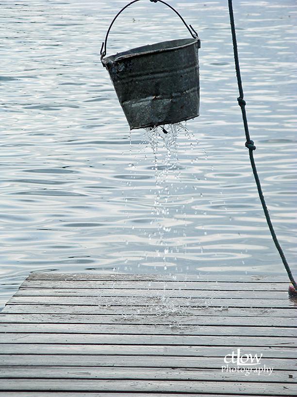 leaky fire-pit bucket
