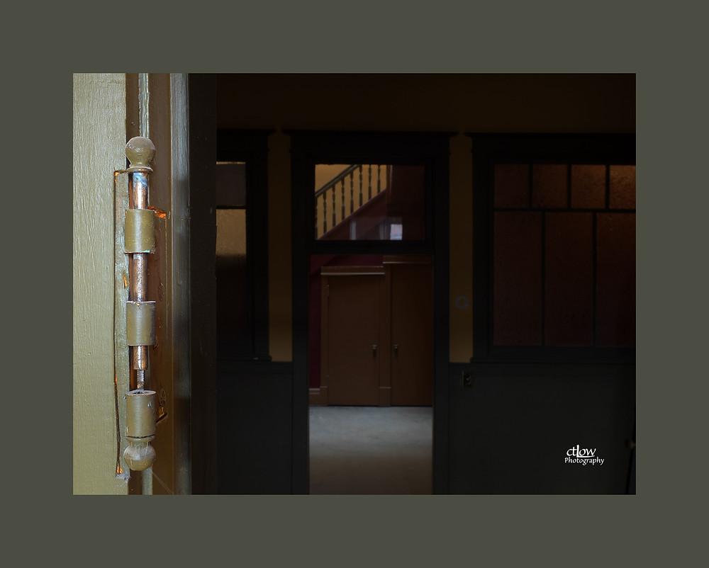 receding doorframes and hinge