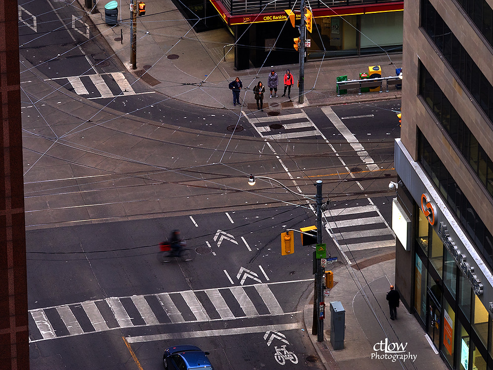 urban intersection, bicycle