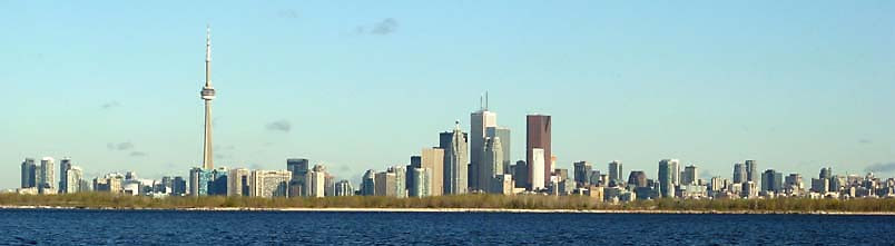Toronto, behind Toronto Island - from a boat