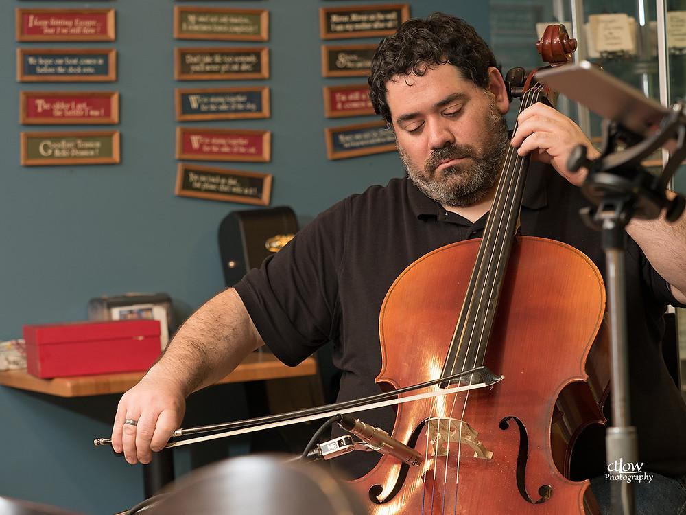 Dan on cello