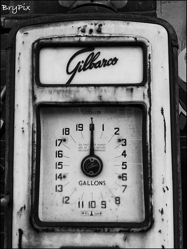 fuel pump in monochrome