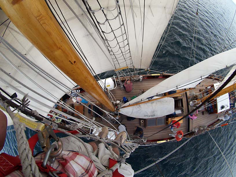 St. Lawrence II, looking down from the yard, ultra-wide-angle lens
