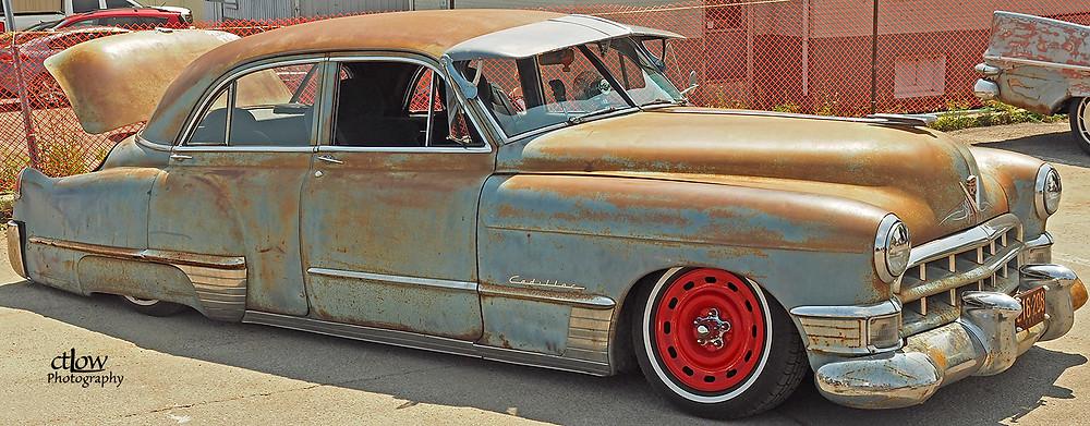 Rusty old Cadillac