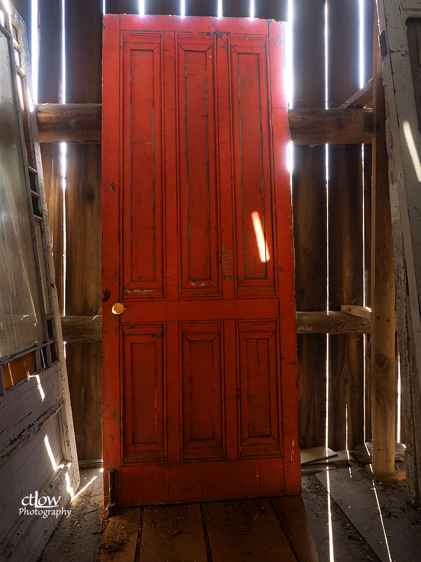 backlit door