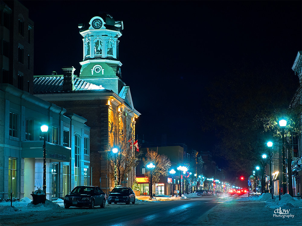 King St., Brockville, Ontario, Canada - night