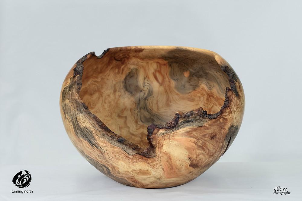 awesome irregular woodturning bowl