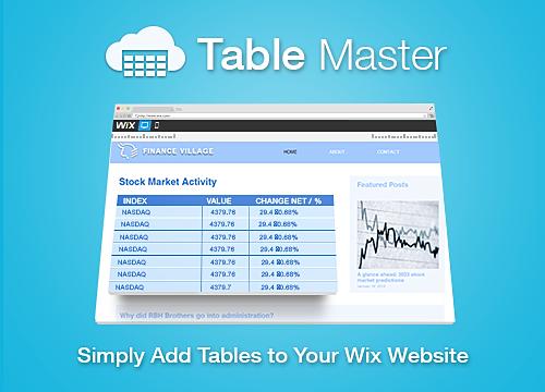 Table Master Overview | WIX App Market | Wix.com