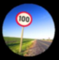 Placa de 100km