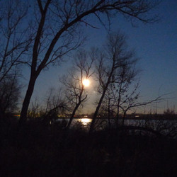 Missouri River - full moon