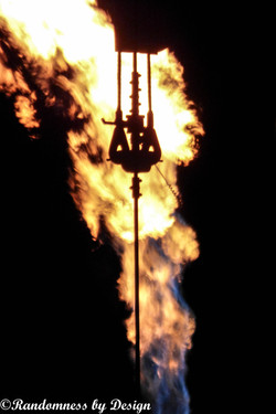 ND oil field gas flare