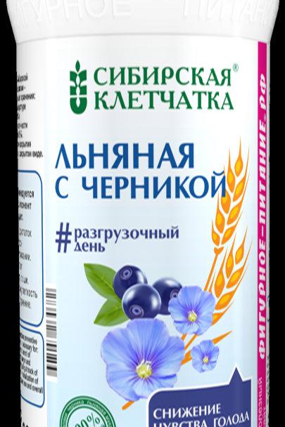 Льняная клетчатка Сибирская с черникой, 280гр.
