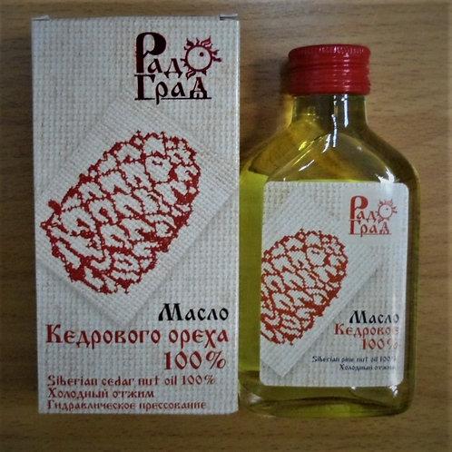 """Масло кедровое холодного отжима нерафинированное """"РадоГрад"""", 100мл."""