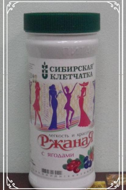 Сибирская Клетчатка Ржаная с ягодами, 350гр.