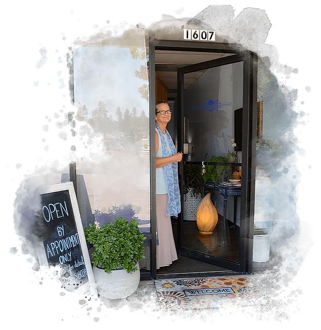 front door to the Living Blu in Grants Pass